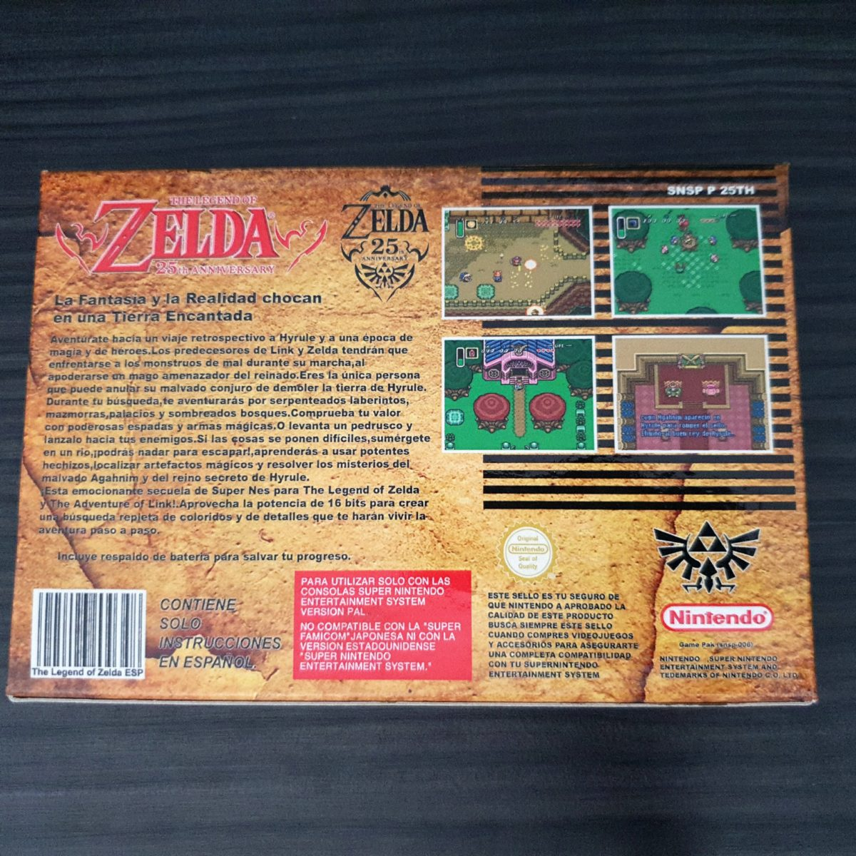 The Legend of Zelda A Link To The Past 25 Aniversary Gold SNES