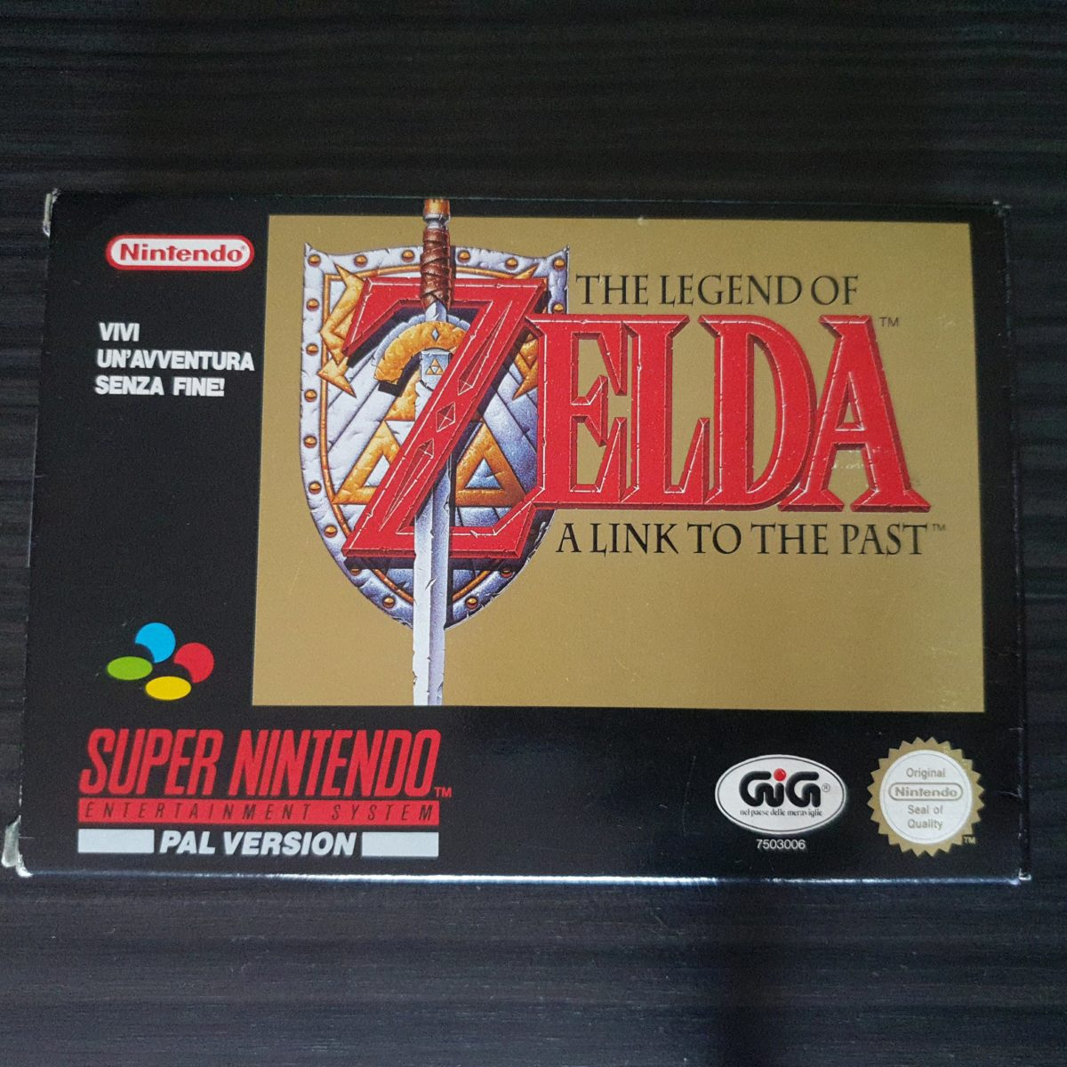 The Legend of Zelda A Link to The Past SNES PAL GiG Italy