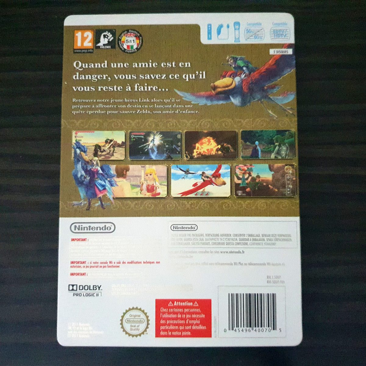 The Legend of Zelda Skywar Sword France SteelBook (2)