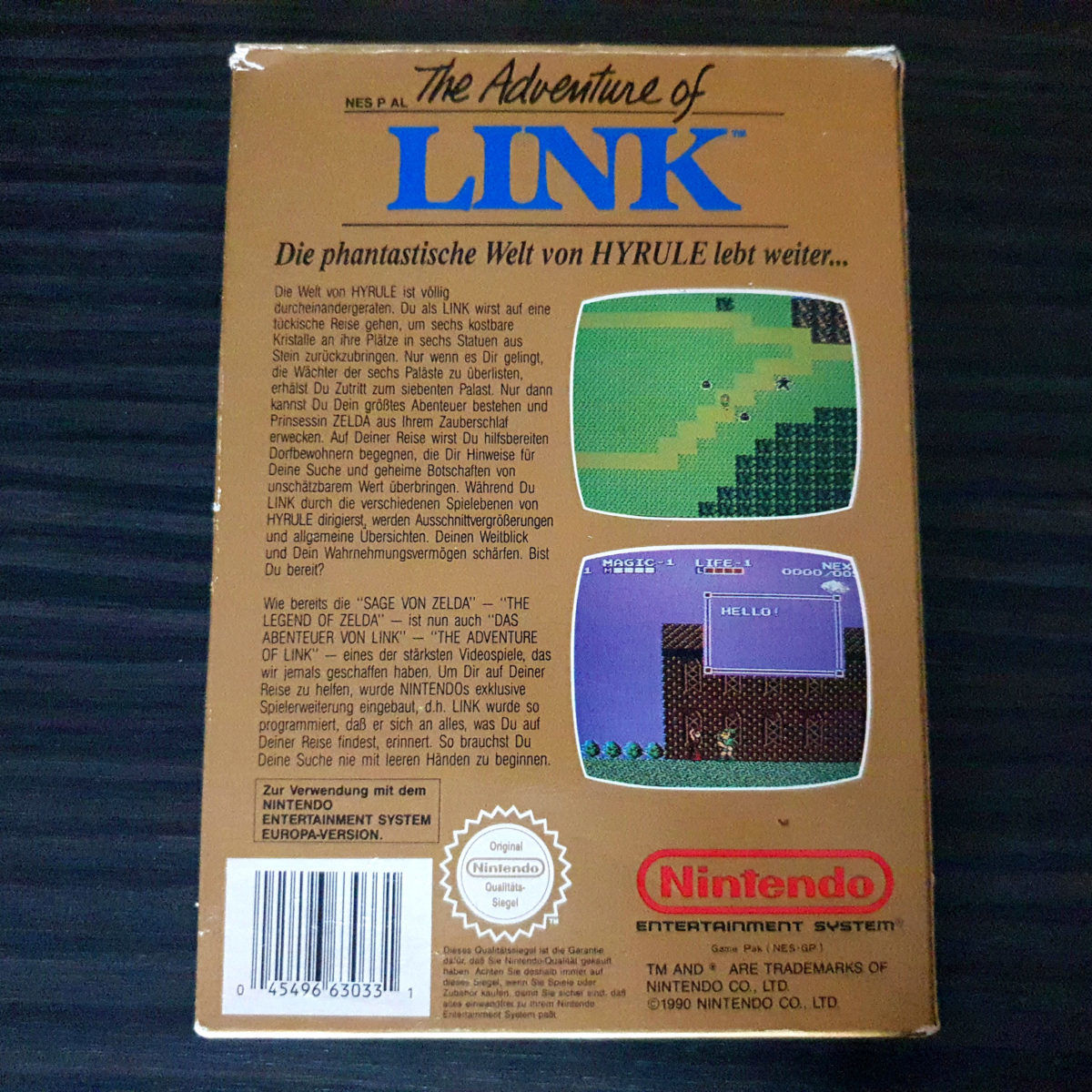 The Adventure of Link NES Germany (3)