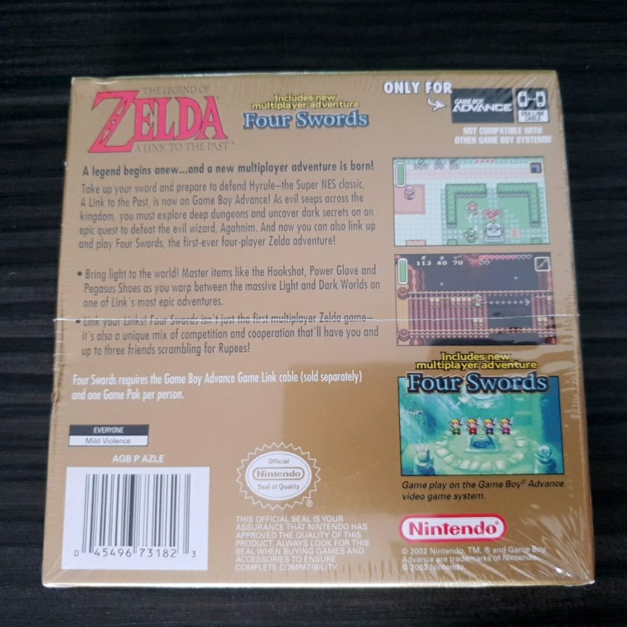 The Legend of Zelda A Link to The Past + Four Swords USA Sealed GBA