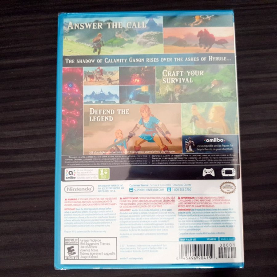 The Legend of Zelda Breath of The Wild Wii U USA Sealed