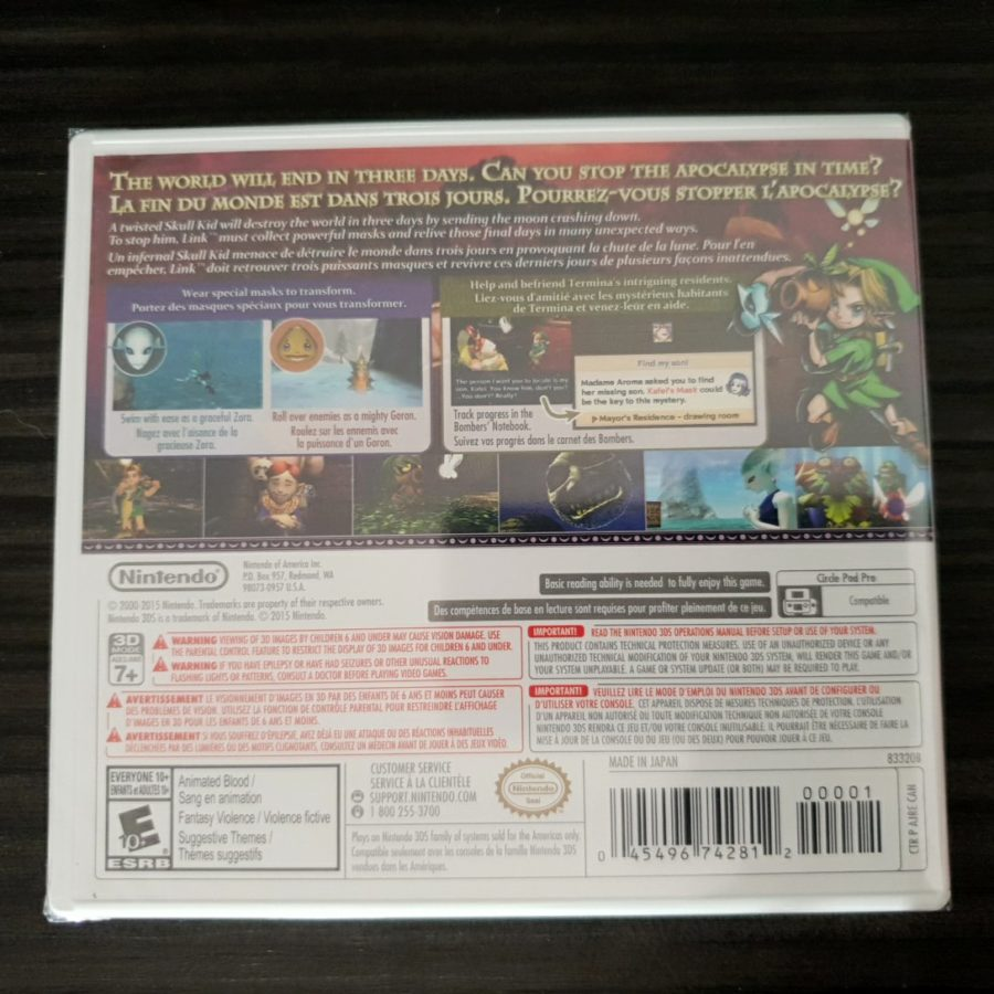 The Legend of Zelda Majoras Mask Canada 3DS