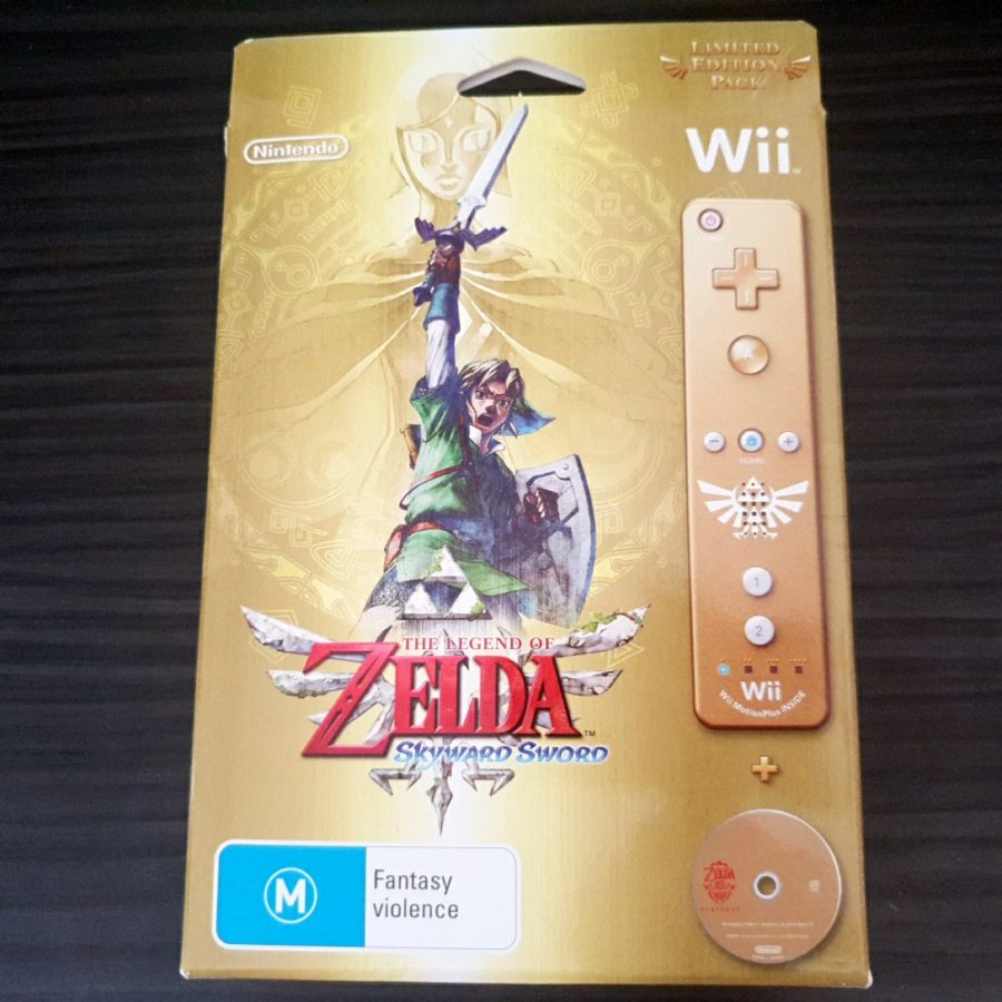The Legend of Zelda Skywar Sword 25 Anniversary Wii Controller Australia Big Box