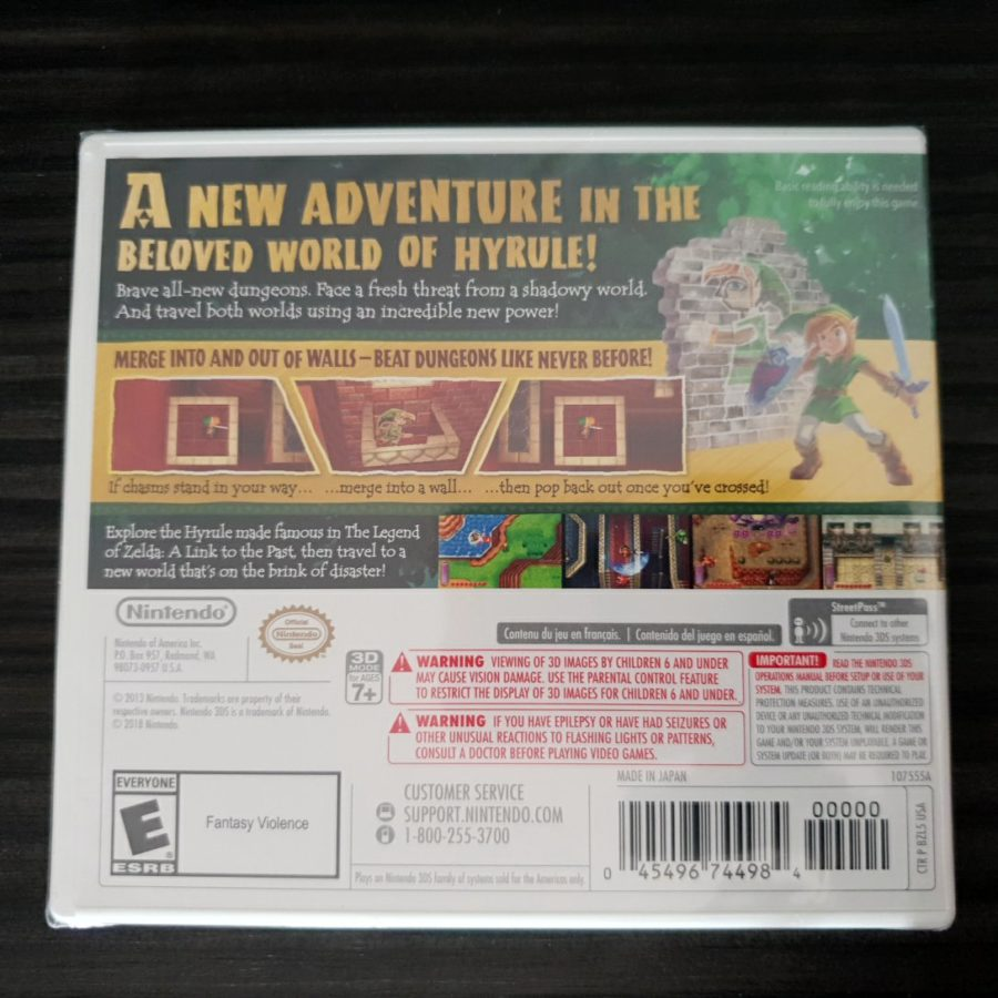 The Legend of Zelda a Link Between Worlds USA Nintendo Selects 3DS