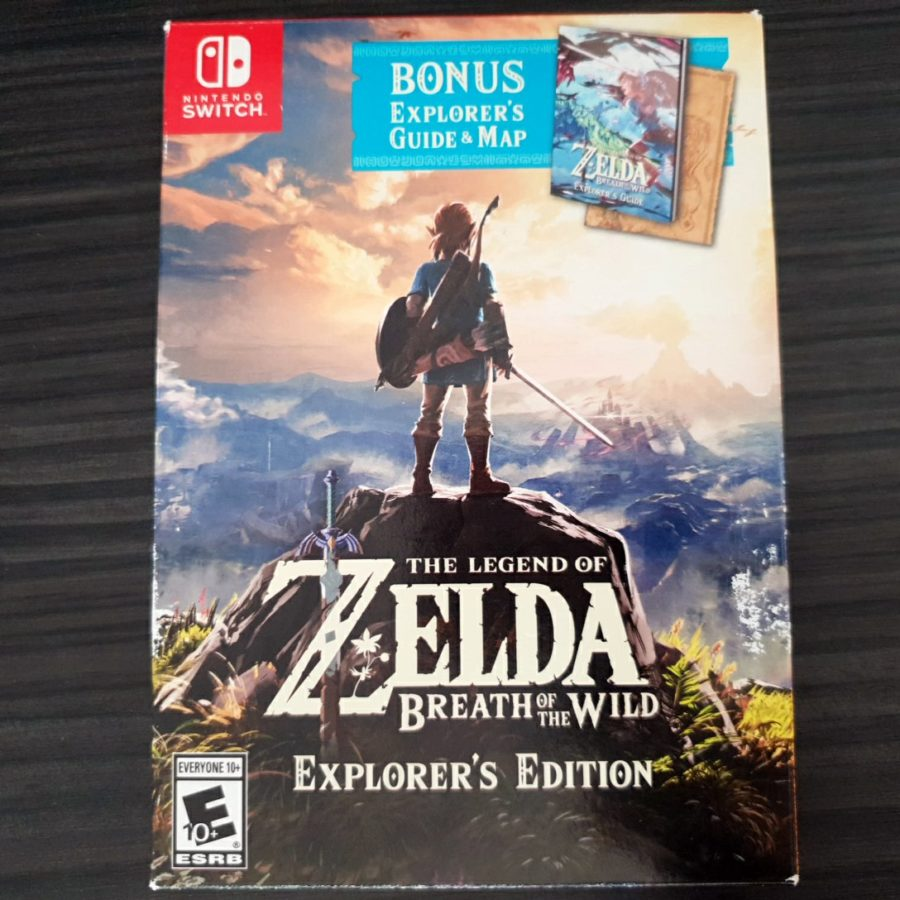the Legend of Zelda Breath of The Wild Explorers Edition Nintendo Switch 1st version