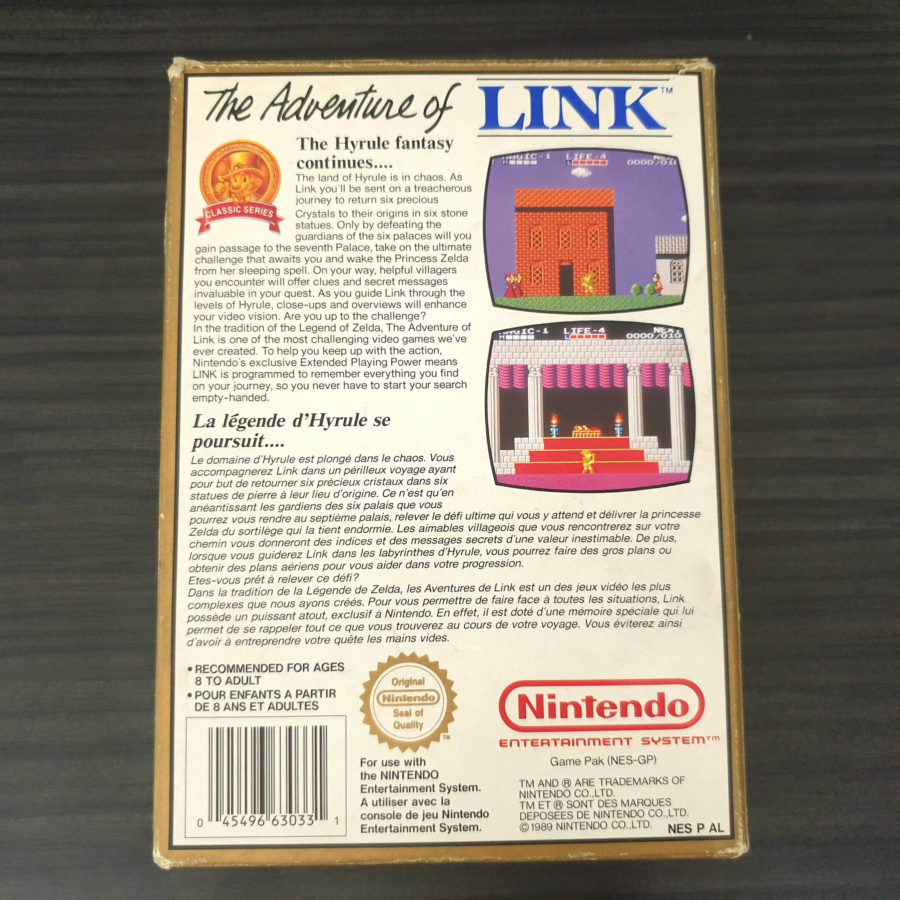 Zelda 2 The Adventure of Link NES France Classics