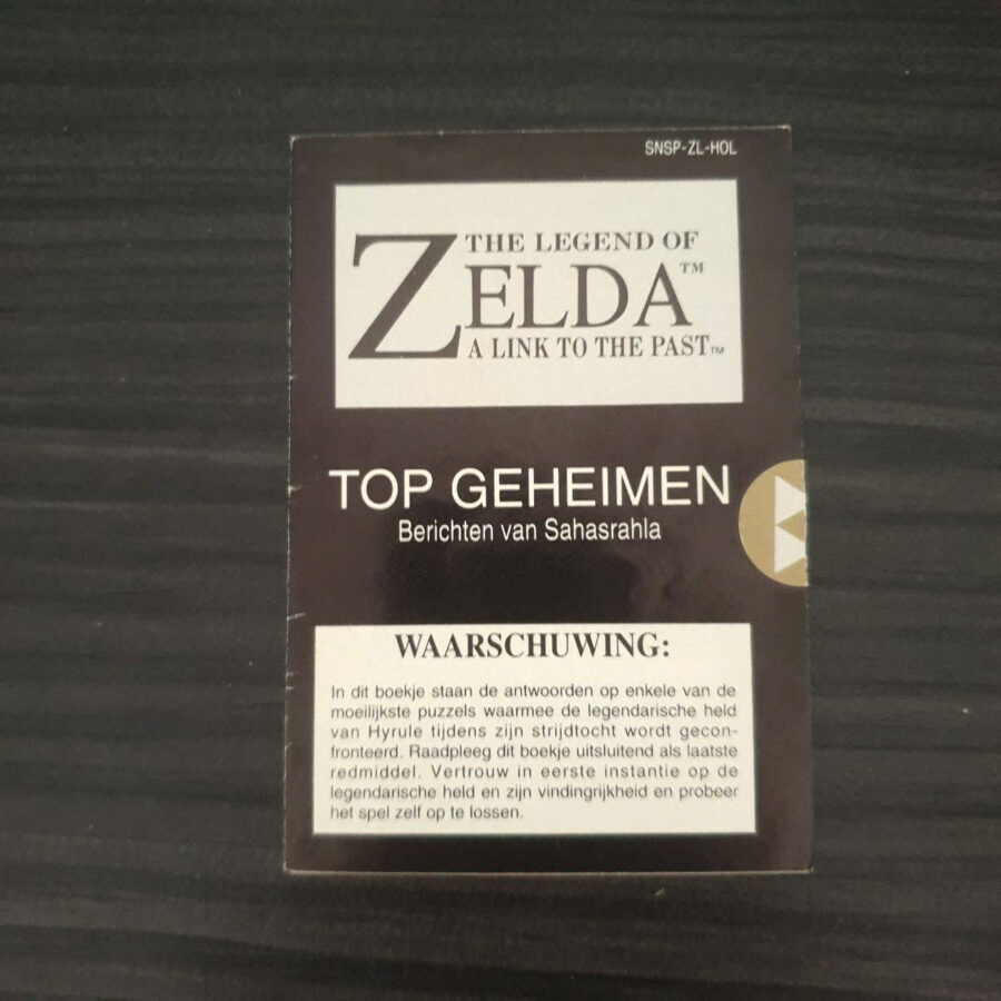The Legend of Zelda A Link To The Past SNES Netherlands