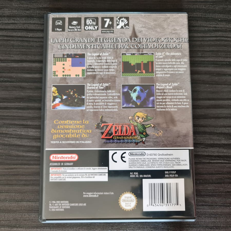 The Legend of Zelda Collectors Edition Gamecube Italy Black Box