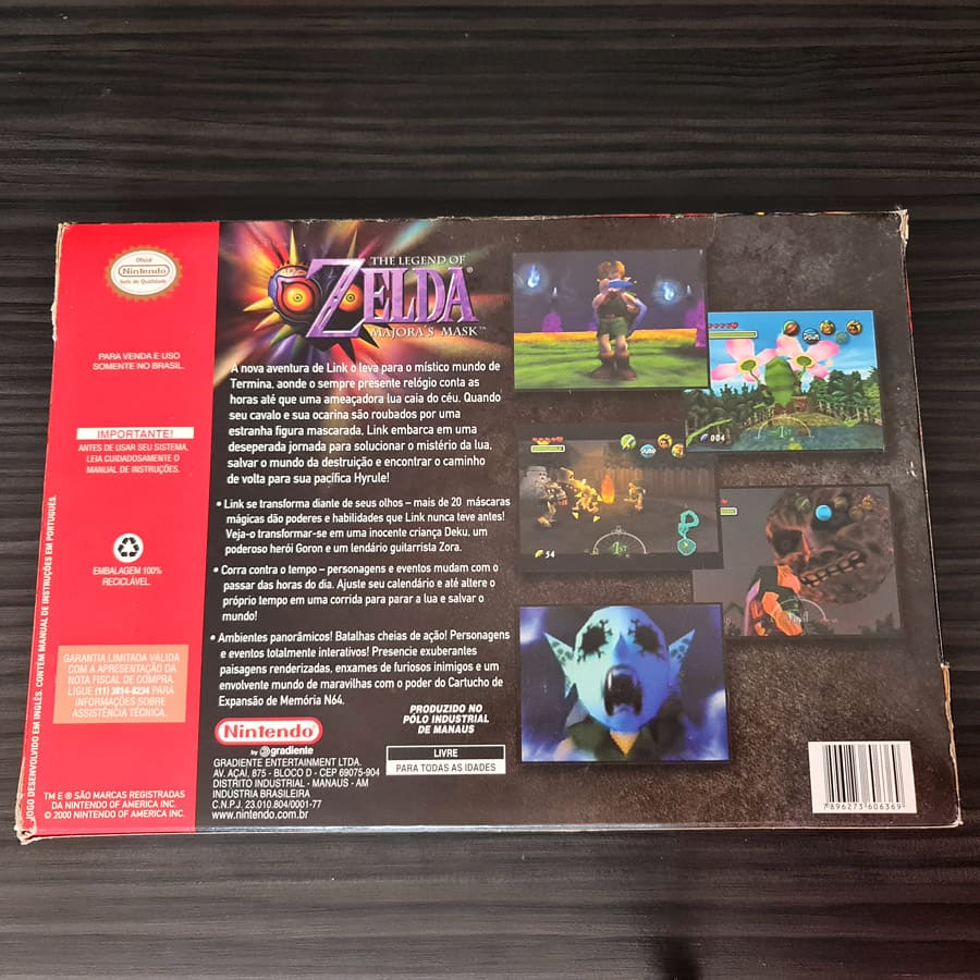 The Legend of Zelda Majora\'s Mask - Nintendo 64 Big Box Brazil - Edição de colecionador