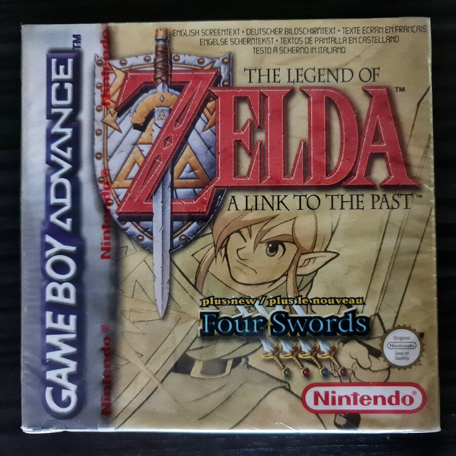 The Legend of Zelda A Link To The Past - Four Swrods GBA Sealed European Version - Front